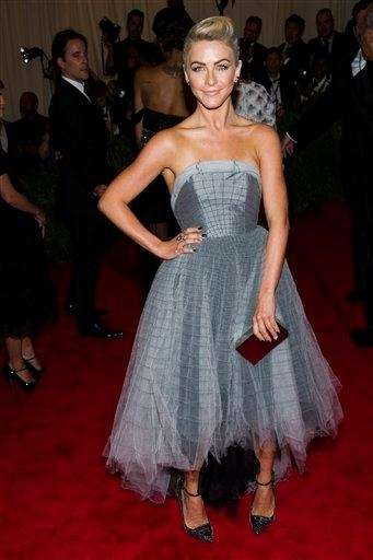 Julianne Hough wore a gown by Topshop to