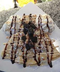 A sweet crepe at Crazy Crepe, with locations