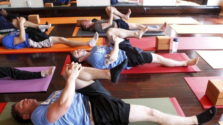 Broga is an accessbile, yoga-based fitness program taught