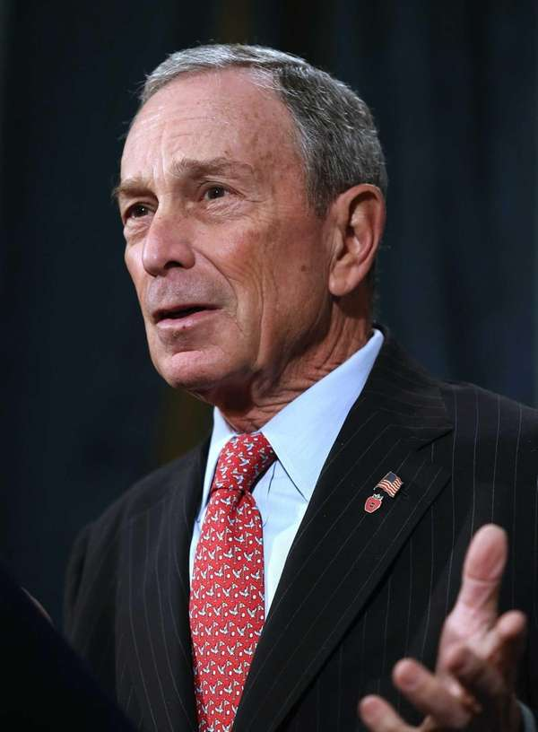 Mayor Michael Bloomberg speaks at a press conference