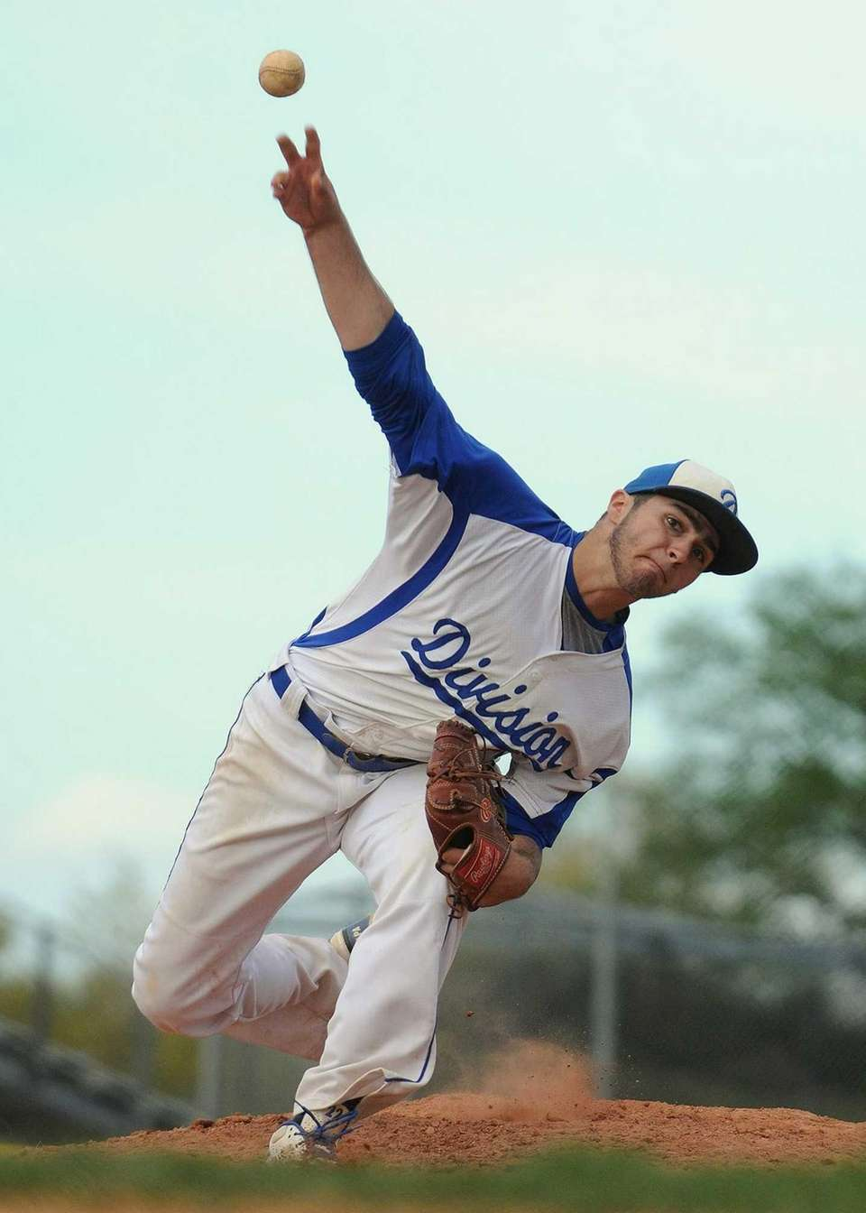 Division pitcher Anthony Papa delivers to the plate