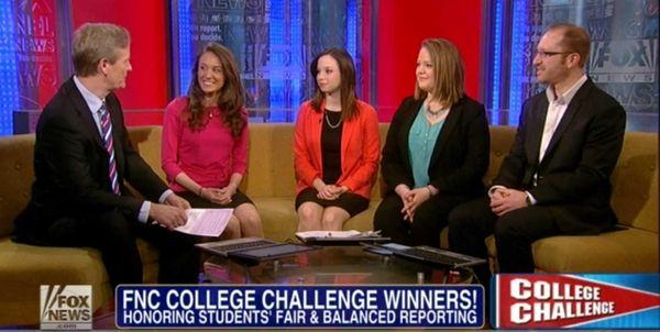 """""""Fox & Friends"""" host Steve Doocy interviews Hofstra"""