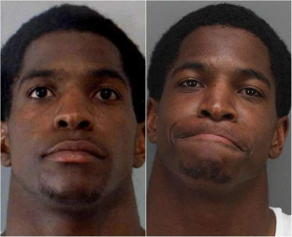 A composite of Titus Young's two booking photos