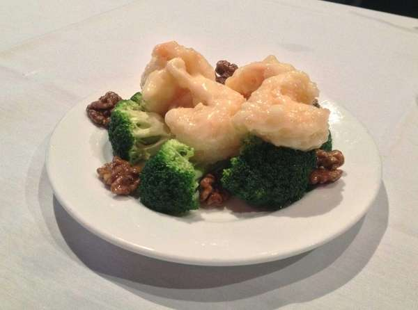 Honey-walnut shrimp is a specialty prepared at The