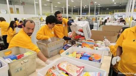 For the 2012 Stamp Out Hunger food drive,