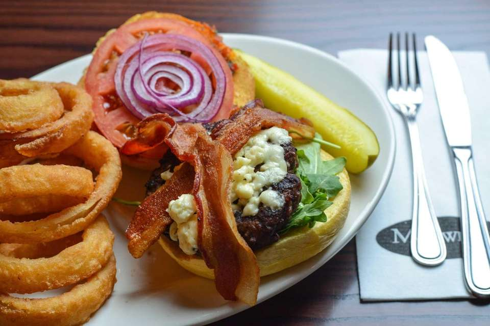 The bistro burger is served with a side