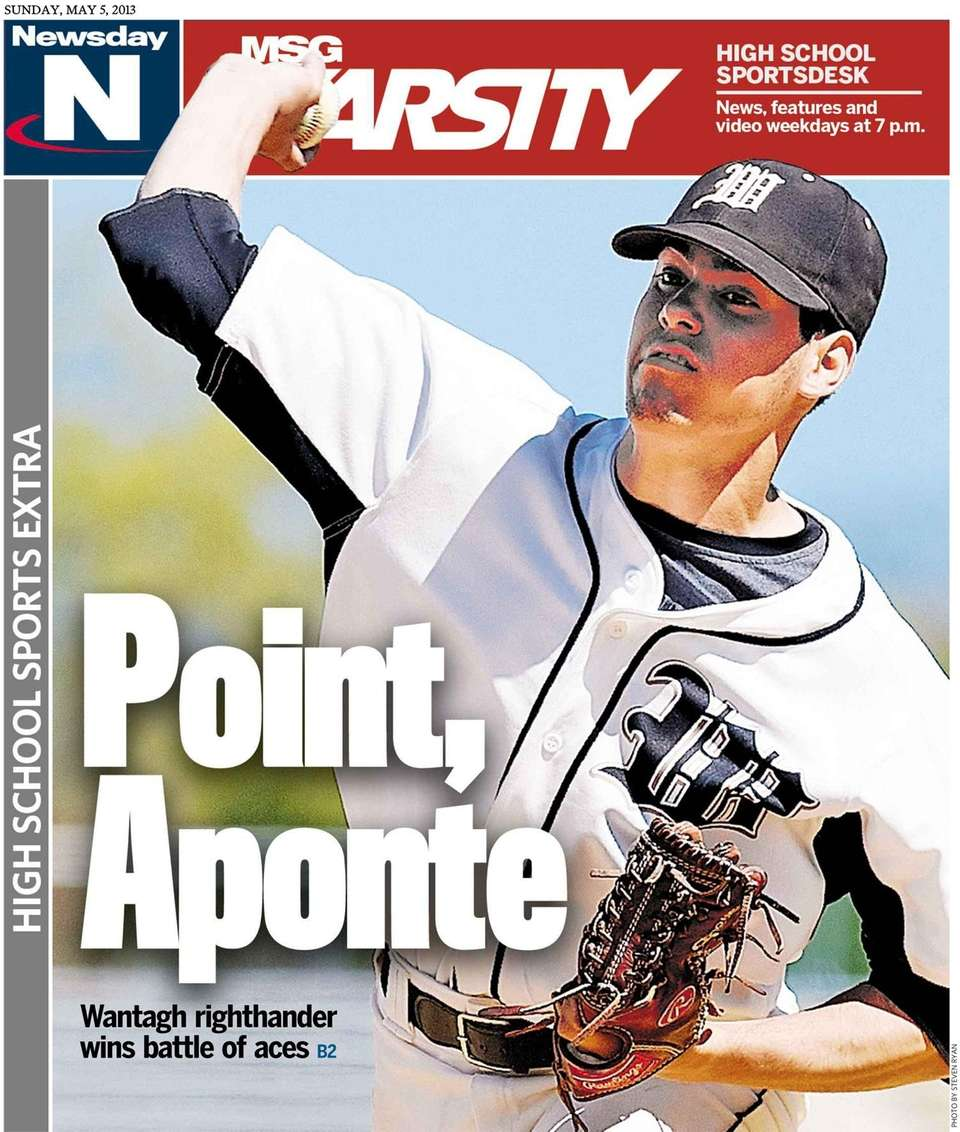 Wantagh's Adam Aponte was featured on the cover
