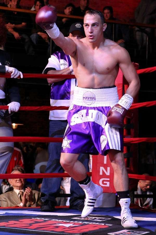Cletus Seldin, undefeated junior welterweight prospect, in an