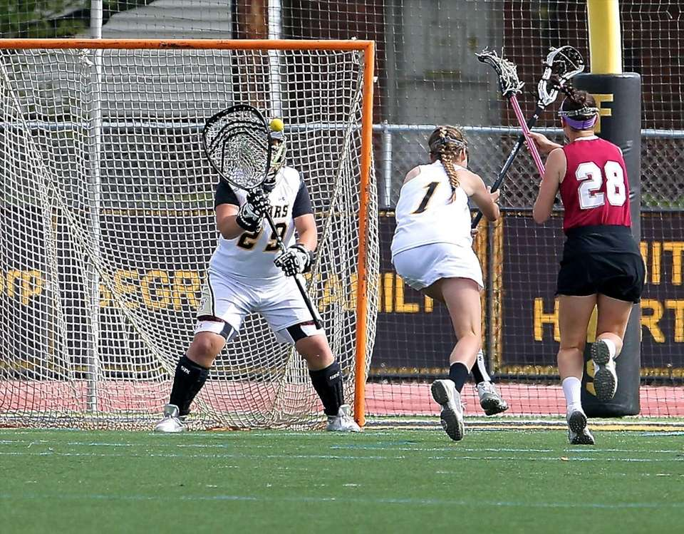 St. Anthony's goalie Charlotte Campbell makes the save