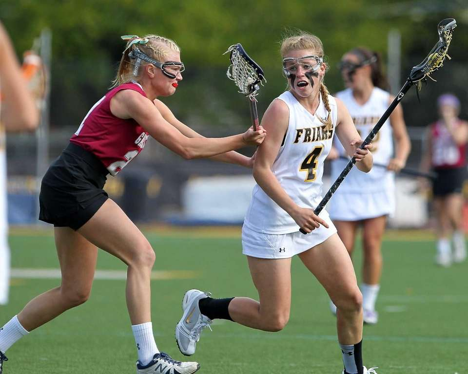 St. Anthony's Michaela Duranti tries to get past
