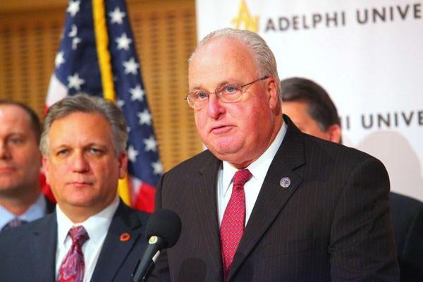 Nassau County Executive Edward Mangano, left, and Nassau