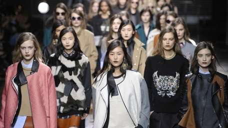Models at Phillip Lim's Fall 2013 Mercedes-Benz Fashion