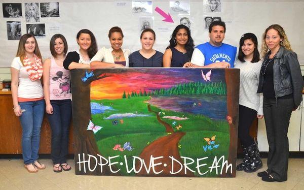 AP art students at Shoreham-Wading River High School