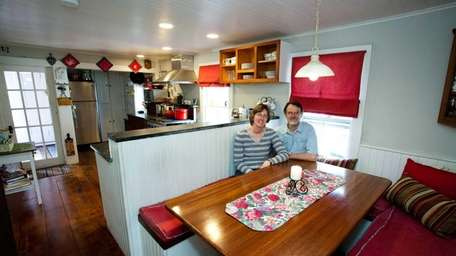 Steve and Anne Cluett in the kitchen of