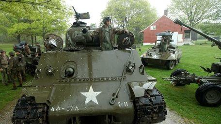 World War II armored vehicles advanced onto the