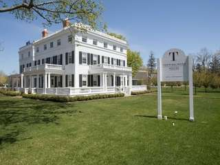 Topping Rose House in Bridgehampton is centered in