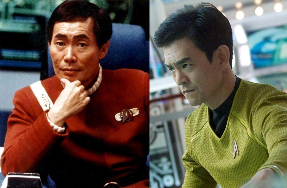 Sulu: George Takei, John Cho