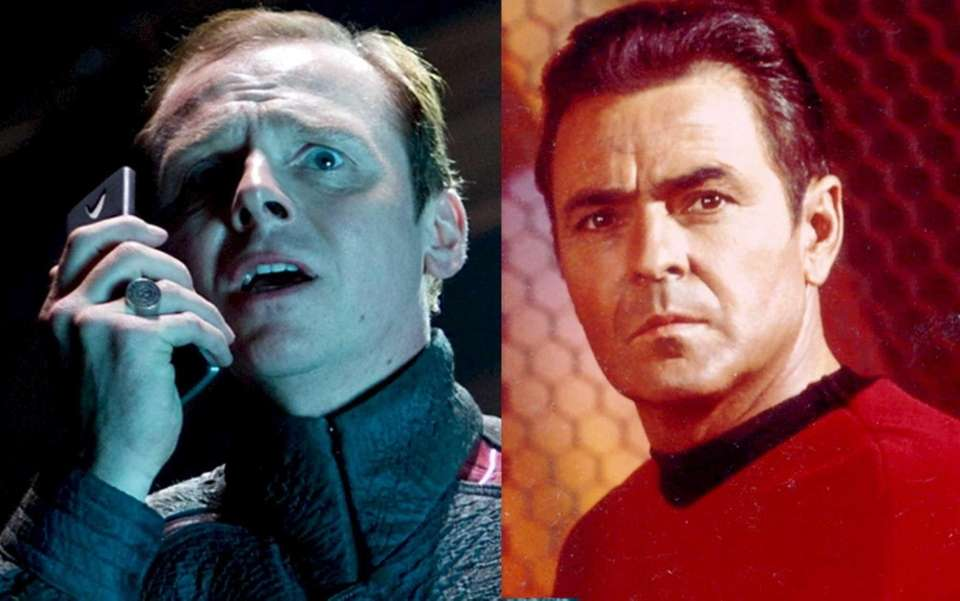 Scotty: Simon Pegg, James Doohan