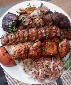 Kebabs at the new Mavi Grill & Deli