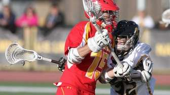 John McDaid of Chaminade trys to get past