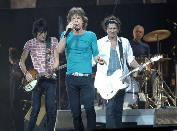 Members of The Rolling Stones perform during their
