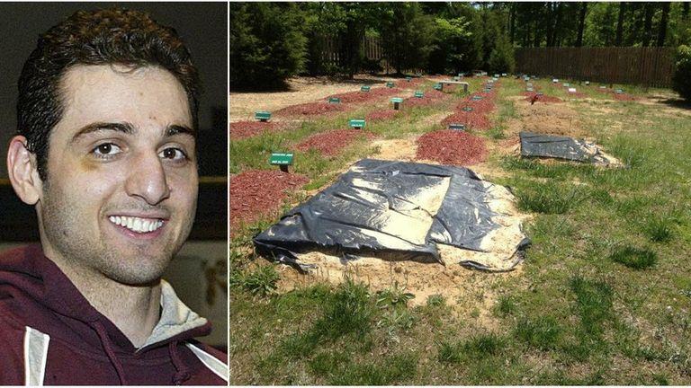 The alleged burial site of Boston Marathon bombing