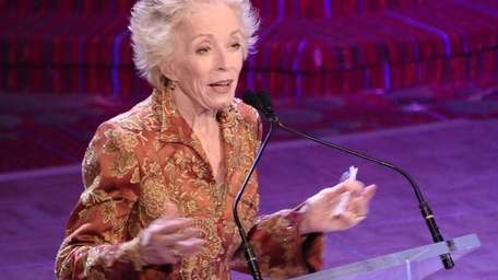 Holland Taylor speaks onstage at the 2013 Actors
