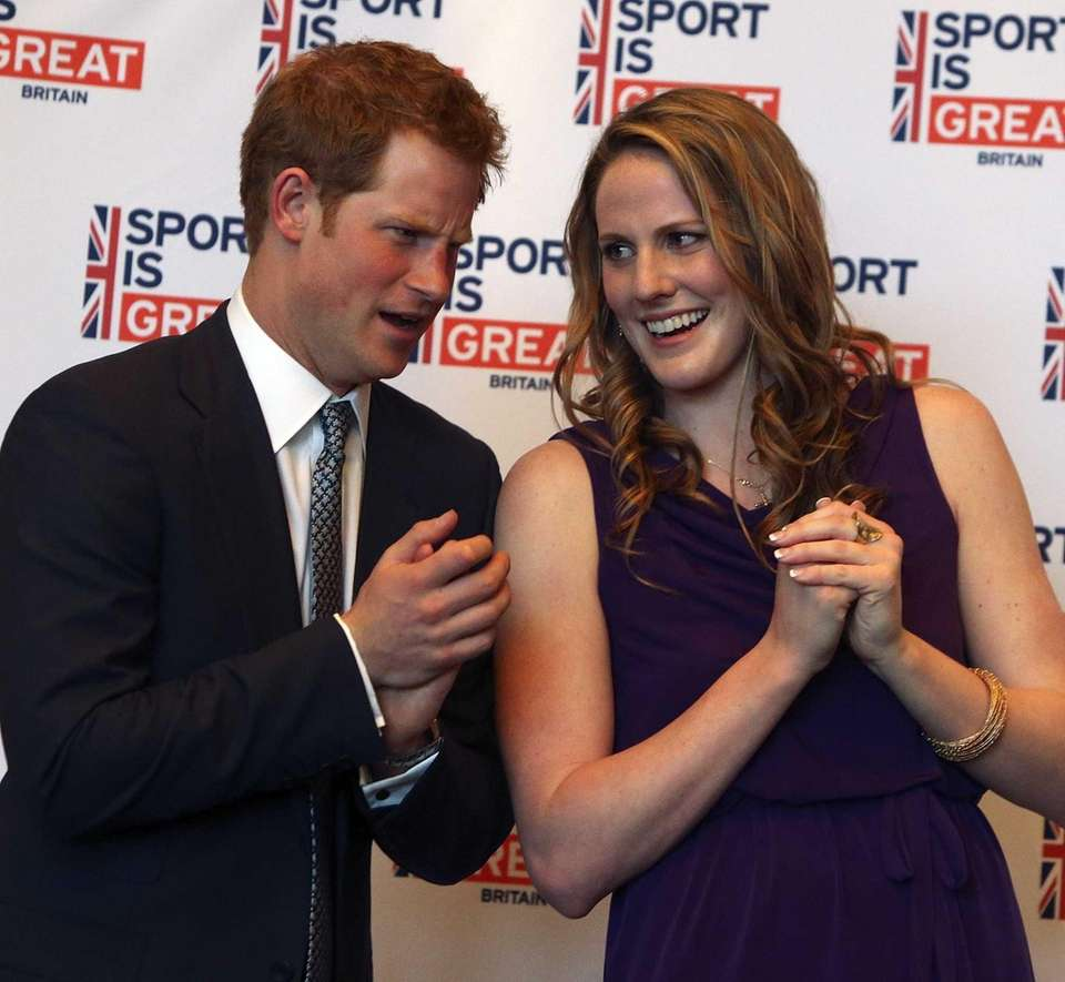 Prince Harry talks with Olympic gold medalist Missy