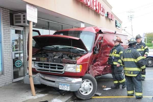 The Lindenhurst Fire Department responds to a car