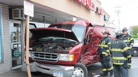The Lindenhurst Fire Department responds to a car