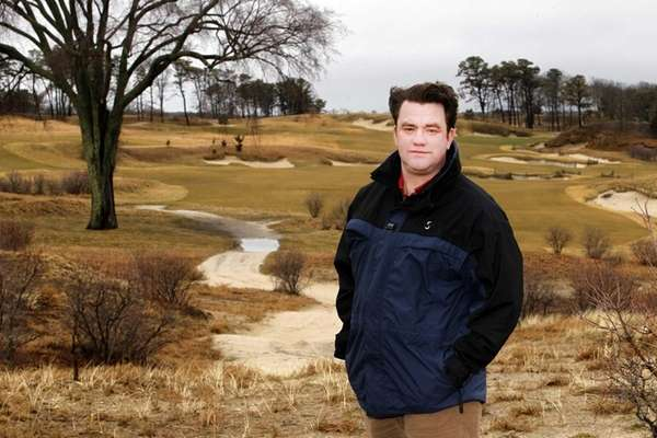 Course superintendent Garrett Bodington of the Sebonack Golf