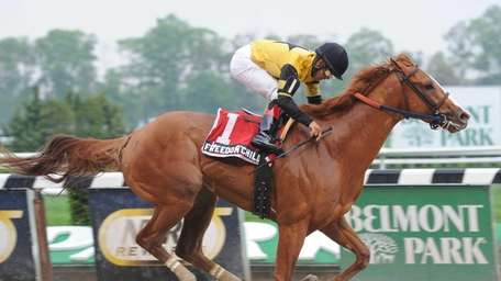 Freedom Child, with jockey Luis Saez, captures the