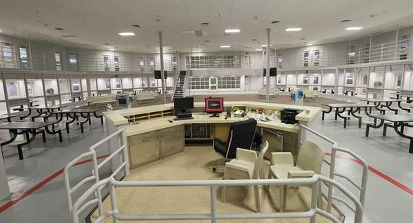 In the new Suffolk County Correctional Facility in