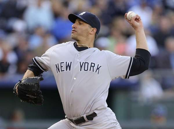 Andy Pettitte of the Yankees pitches against the