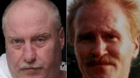 Left, John Beaumont, 54, of West Babylon, on