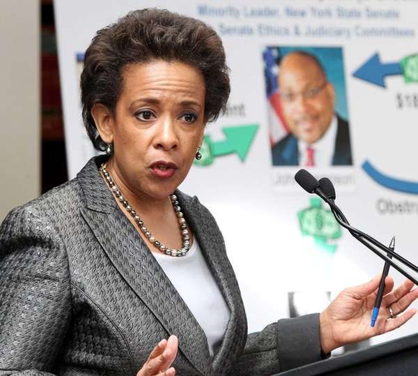 U.S. Attorney Loretta Lynch announces the indictment of