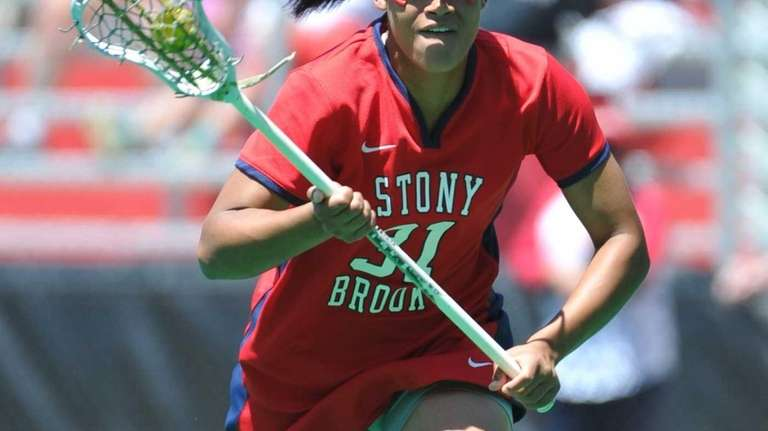 Stony Brook's Demmianne Cook takes a free position