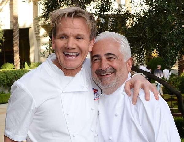 Television personality and chef Gordon Ramsay, left, and