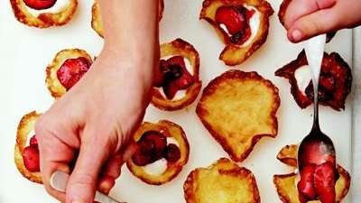 The Quickie Strawberry Tartlets can be found in