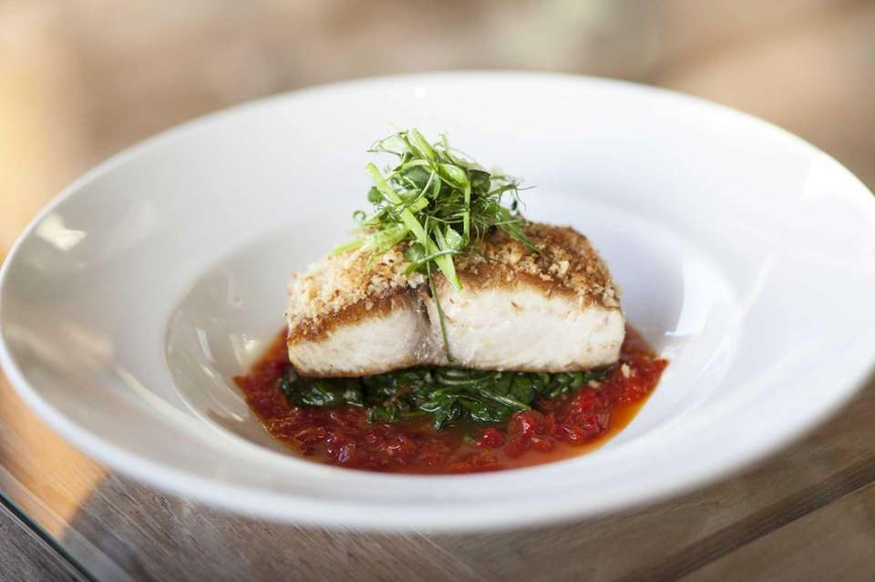 Prime in Huntington serves a macadamia nut-crusted mahi