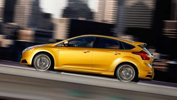 The 2013 Ford Focus ST hatchback, which churns