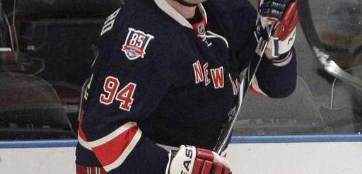 Derek Boogaard during a game against the Boston