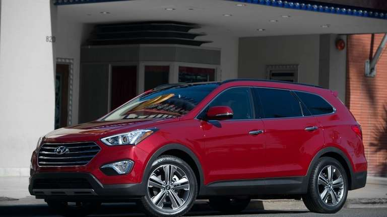 The two-row 2013 Santa Fe made its debut