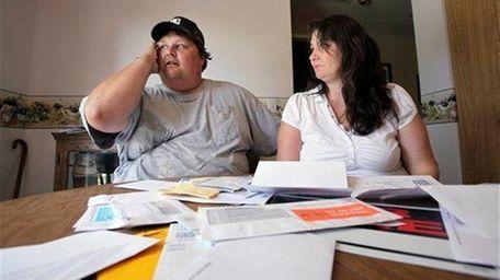 Eric Krangnes, left, and his girlfriend Shelly Brann