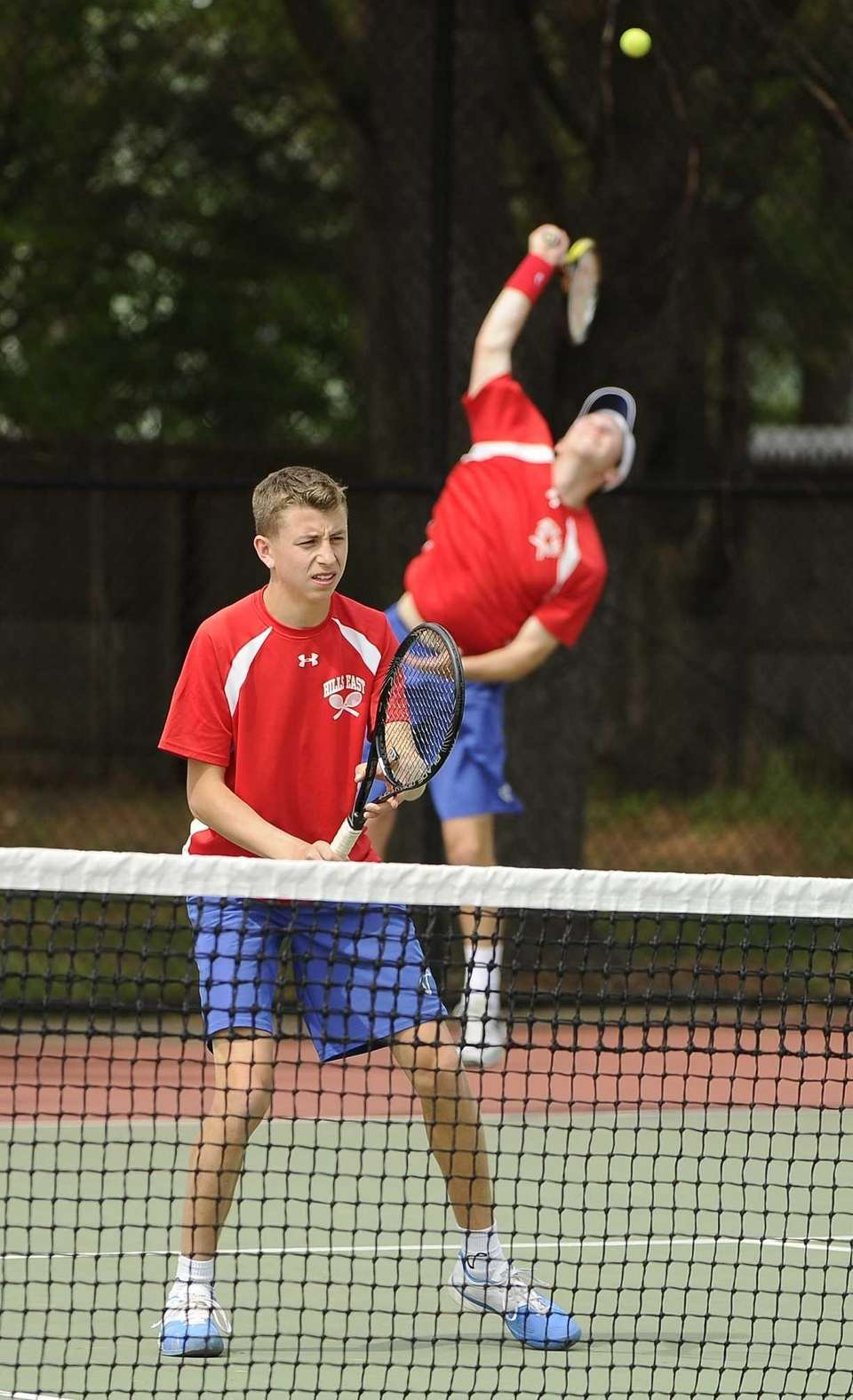 Half Hollow Hills East's doubles partners Kyle Alper,