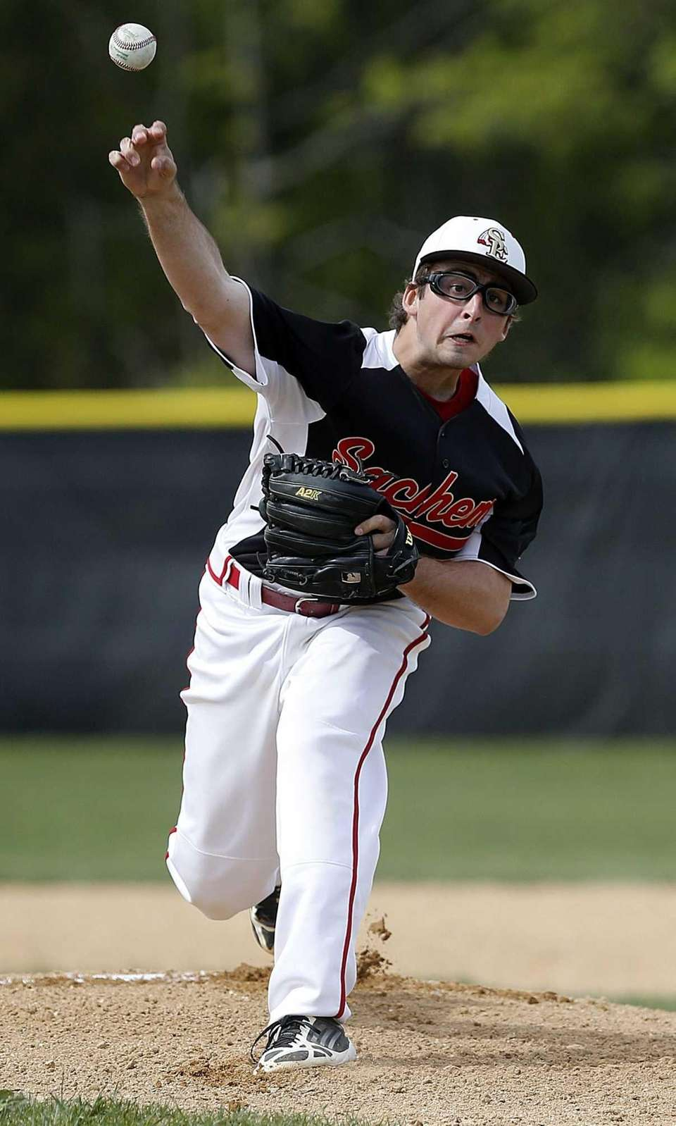 Sachem East starting pitcher Nick Liegi delivers during