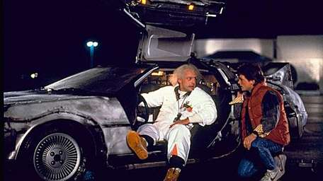 Christopher Lloyd, left, and Michael J. Fox in