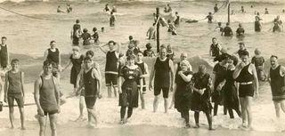 Bathing in Long Beach meant wearing head-to-toe bathing
