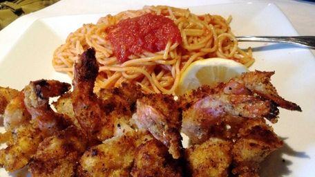 At Friendlier Trattoria & Pizzeria in Woodmere, shrimp