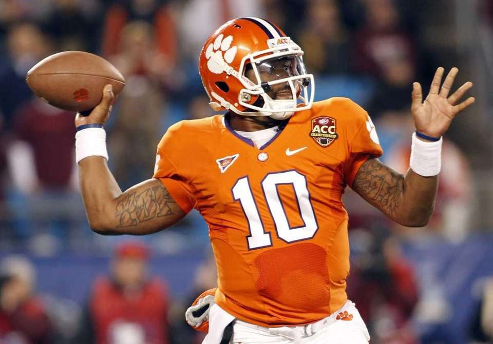 TAJH BOYD Quarterback, senior, Clemson Boyd enters the